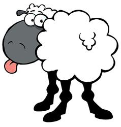 Black barnyard sheep vector