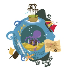 Treasure island game vector