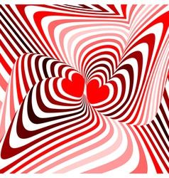 Design hearts twisting movement background vector