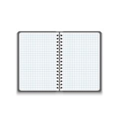 Realistic blank open notebook vector