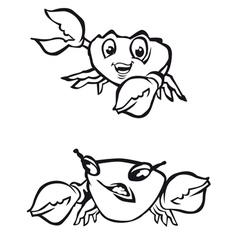 Cartoon crabs vector