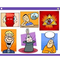 Cartoon concepts and ideas set vector