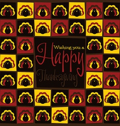 Bright mosaic thanksgiving card in format vector