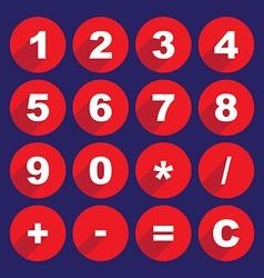 Calculator keys vector