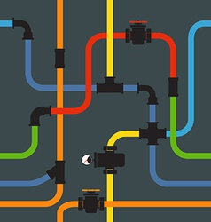 Seamless background of water pipeline vector