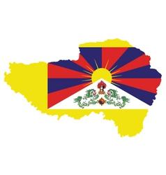 Tibet flag vector