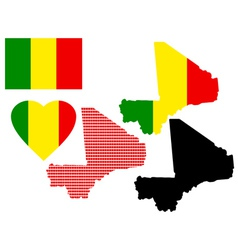 Maps of mali vector