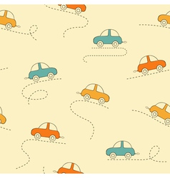 Cars seamless background vector