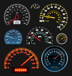 Speedometers vector