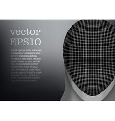 Fencing mask background vector