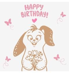 Bunny happy birthday vector