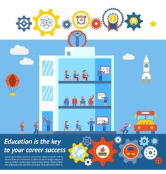 Seamless education to success design vector