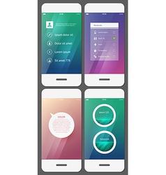 Mobile user interface template - stock vector