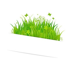 Paper sticky with grass vector