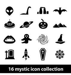 Mystic icons vector