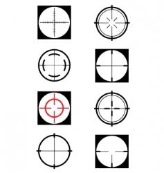 Crosshairs vector