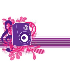 Musical theme with speaker for design vector