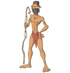 Tribal man vector