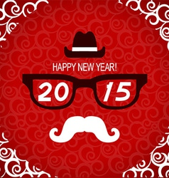 New year hipster greeting card vector