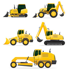 Car equipment for construction work vector