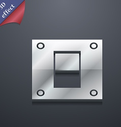 Power switch icon symbol 3d style trendy modern vector