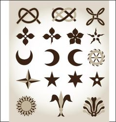 Set of traditional emblems vector