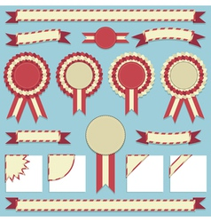 Rosettes and ribbons vector