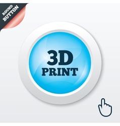 3d print sign icon 3d printing symbol vector