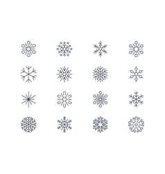 Snowflake icons 3 vector
