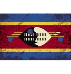 Swaziland flag grunge background vector