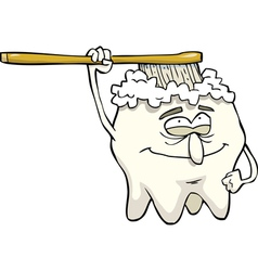Tooth brushing itself vector