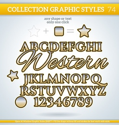 Western graphic styles for design use for decor vector