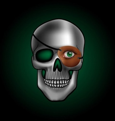 Skull with one eye vector