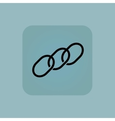 Pale blue chain icon vector