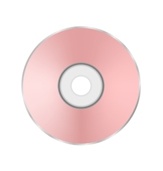 Pink compact disc vector