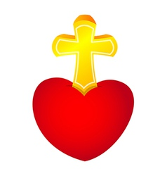 Icon heart and cross vector