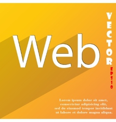 Web icon symbol flat modern web design with long vector