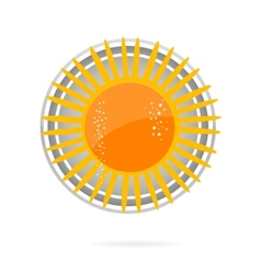 Sun symbol yellow color on the white vector