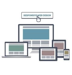 Responsive web mockup vector