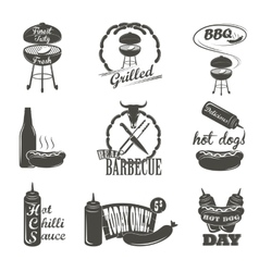 Hot dog vintage typography labels and design vector