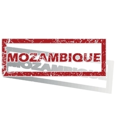 Mozambique outlined stamp vector
