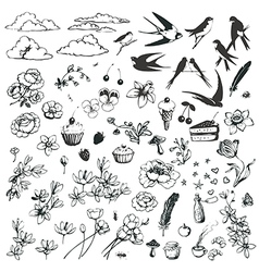 Lovely doodles vector