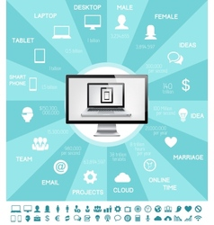 It industry infographic elements vector