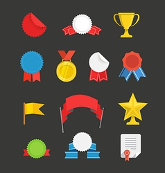 Different events flat icons set vector