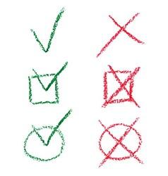 Check mark set vector