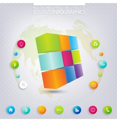 Modern 3d infographic template can be used for vector