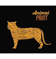 Animal print design vector