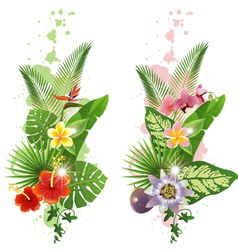 Vertical tropical banners vector