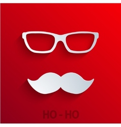 Modern concept santa claus icon on red vector