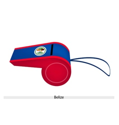 Red and blue stripe on belize whistle vector